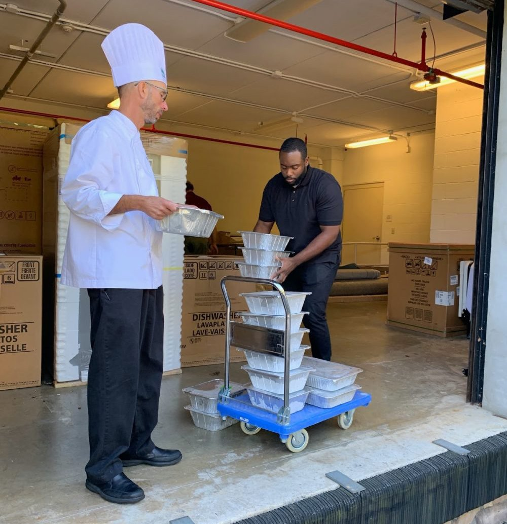 White Horse Village expert chef donates food to the Food Recovery Network