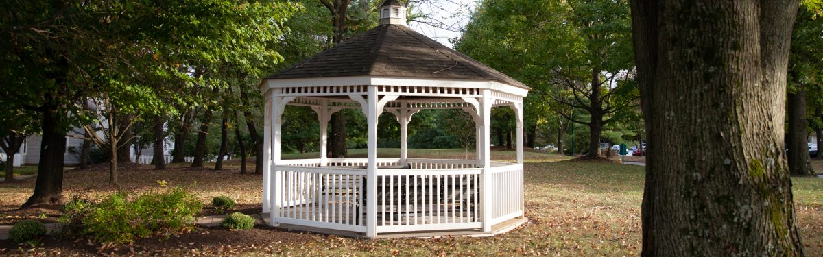 Picturesque Gazebo on the beautiful campus of White Horse Village