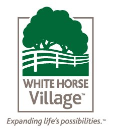 White Horse Village logo with tagline Expanding Life's Possibilities