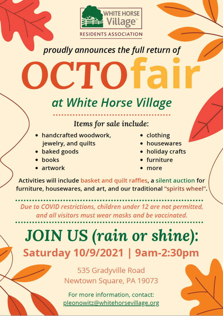 Octofair event flyer for Oct 9, 2021